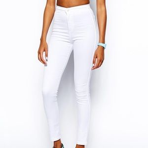 American Apparel White Easy Jeans